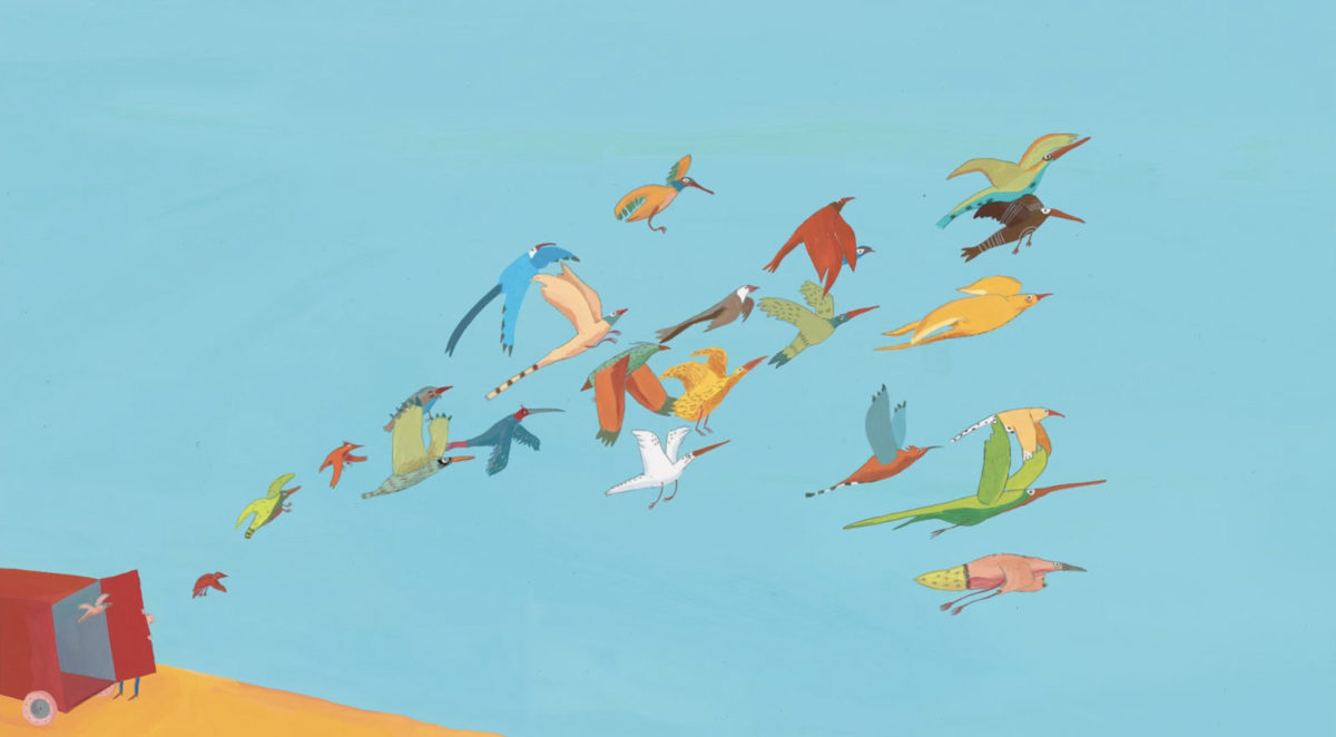 cabane aux oiseaux, Copyright Gebeka Films